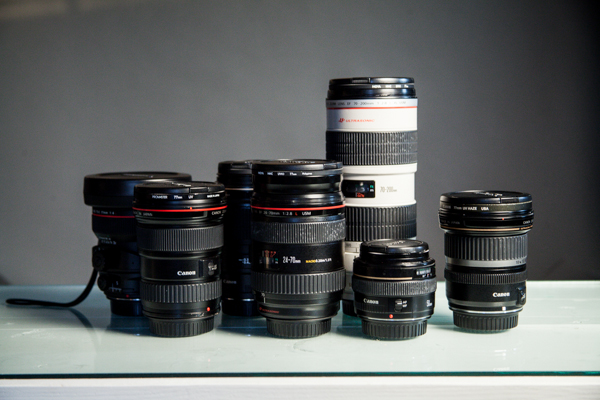Various Camera Lenses