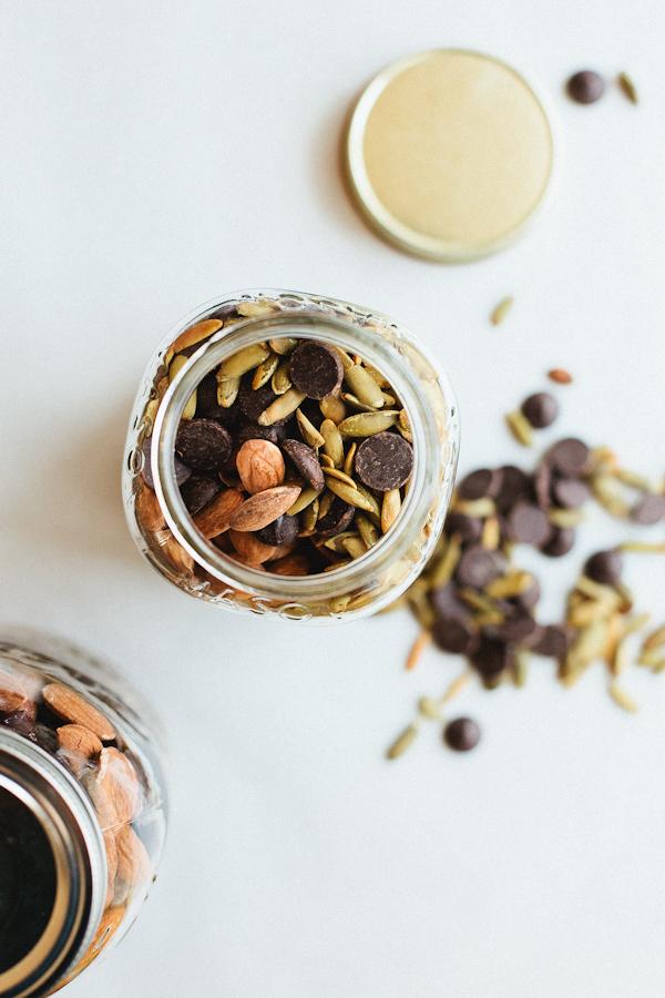 Trail Mix in a Glass Jar