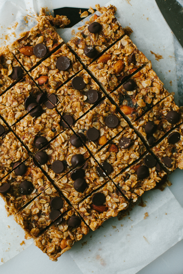Granola Bars Fresh from Oven, Cut into Rectangles