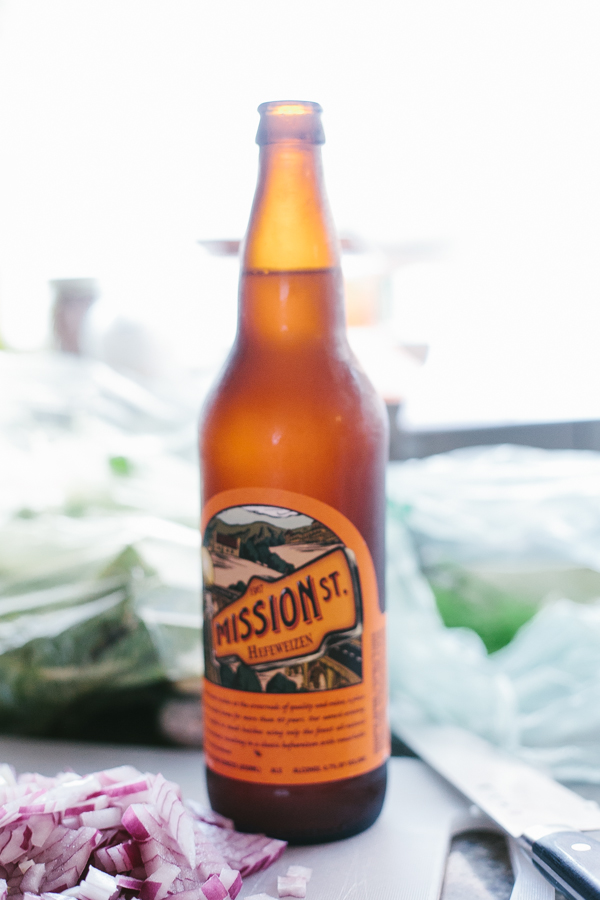 Bottle of Mission Beer