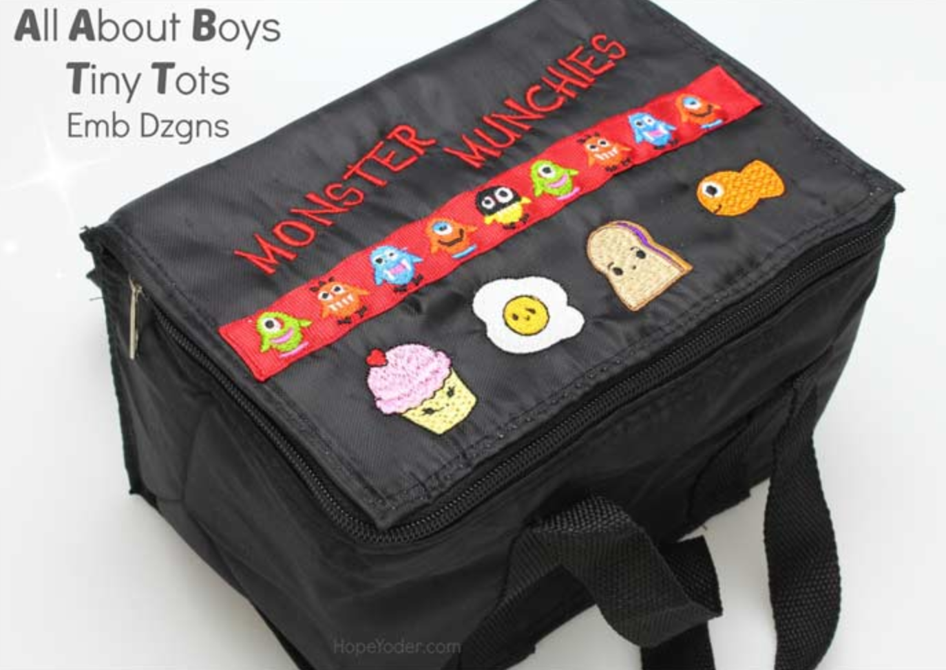 "Black ""Monster Munchies"" Lunch Box"