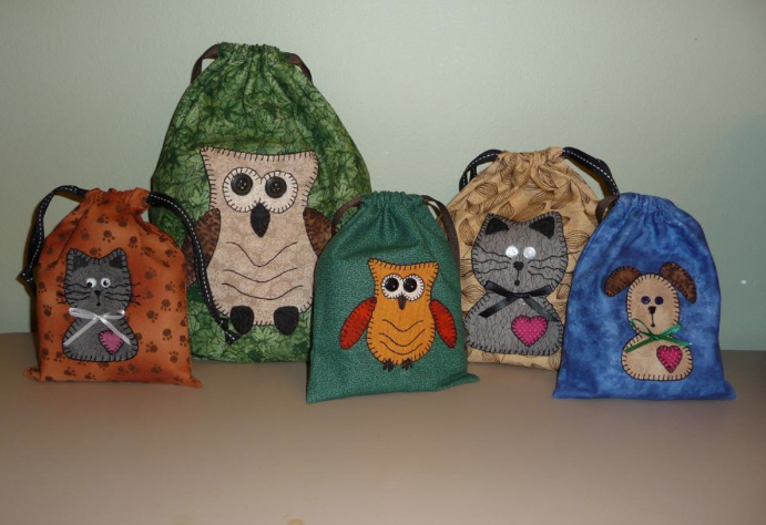 Collection of Animal-Decorated Bags