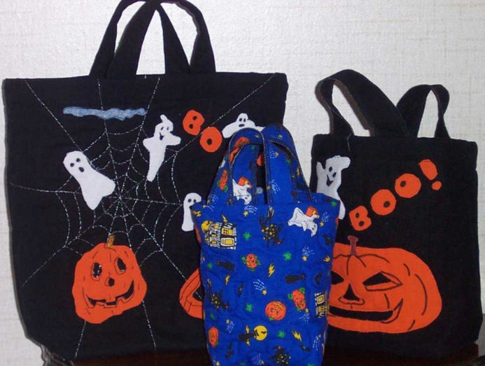 Treat Bags Featuring Ghosts, Pumpkins and Spiderwebs