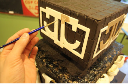 Adding Logo to Top Layer of Cake