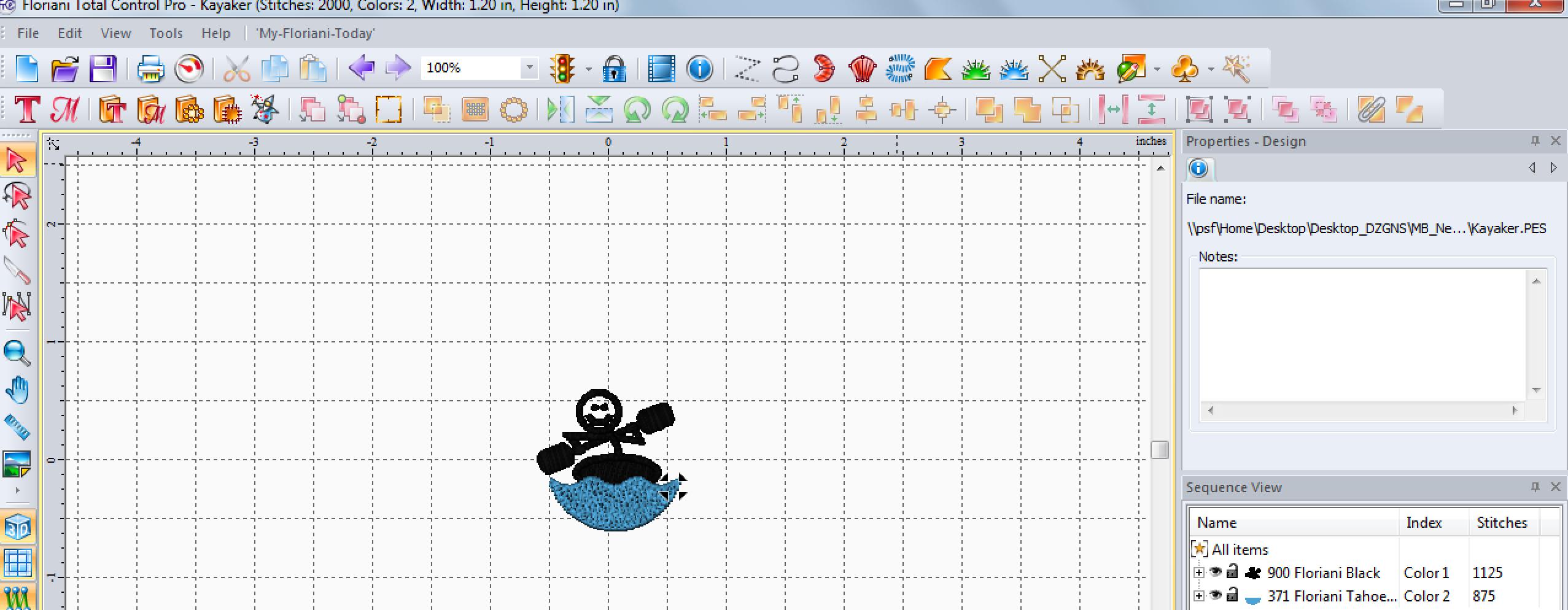 Kayaker Design in Computer Program