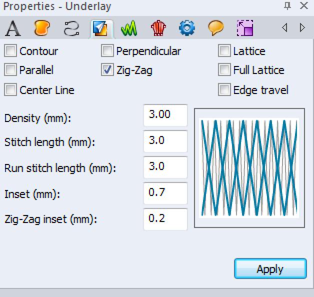 Setting Zig Zag in Computer Program