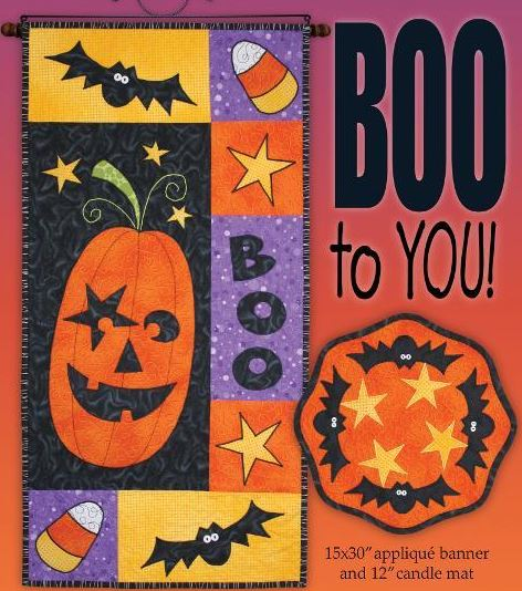 Door Flag and Candle Mat, Halloween-Themed