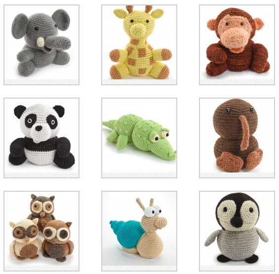 Various Crocheted Animals