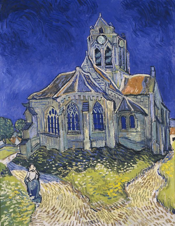 Vincent Van Gogh- The church at Auvers sur Oise