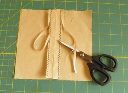 Zigzag seam finish and scissors