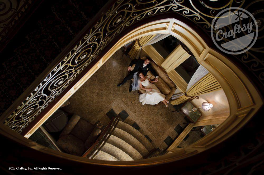 View of Bride and Groom from Above
