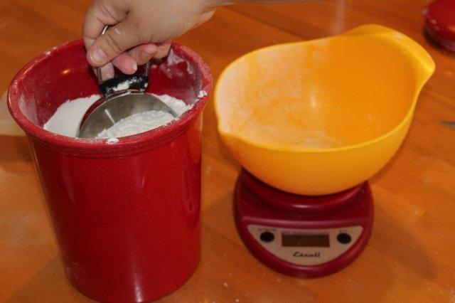 Scooping Flour into Cups