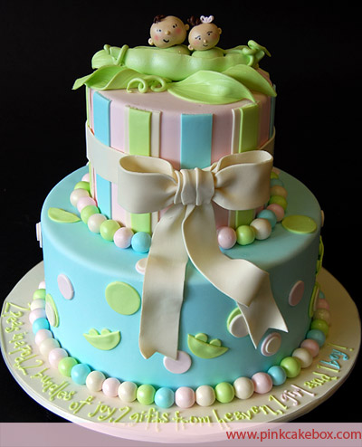 Tiered Twin Cake with Big Bow, on Bluprint