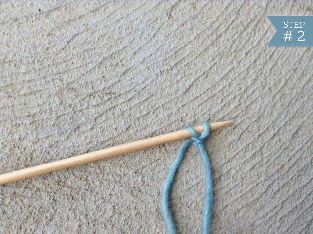 Single Needle with Single Stitch Cast On