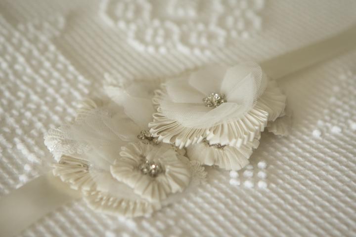 Wedding Details: Lace Flowers