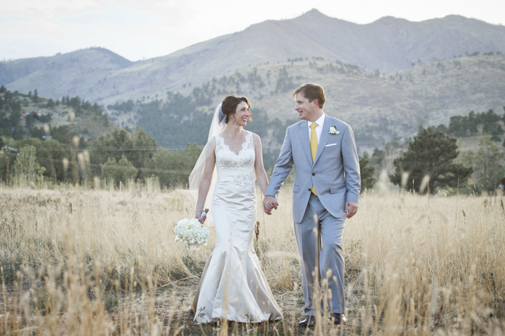 Wedding Photos: Bride and Groom, Mountain Backdrop