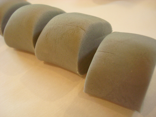 Cut Pieces of Grey Fondant