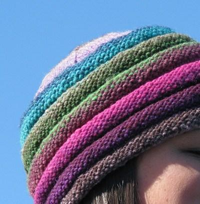 Hat with Rainbow-Colored Brim