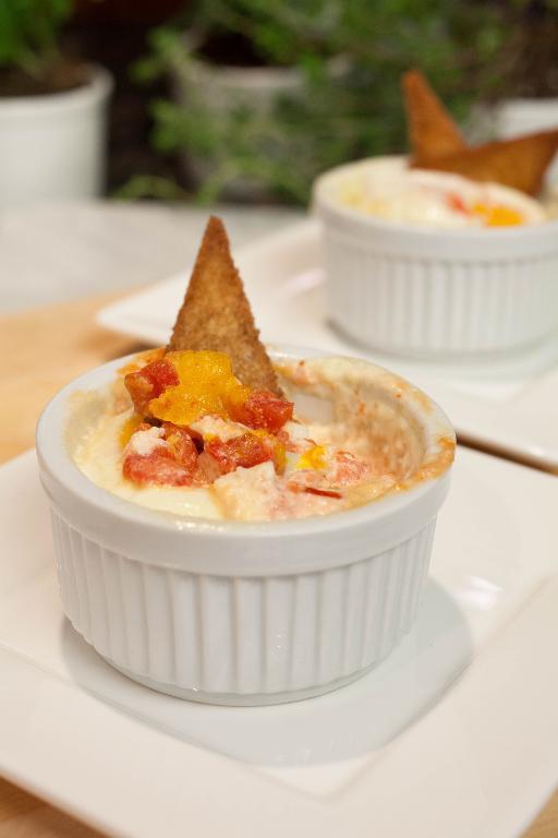 Tomato Saucse in Small White Dishes