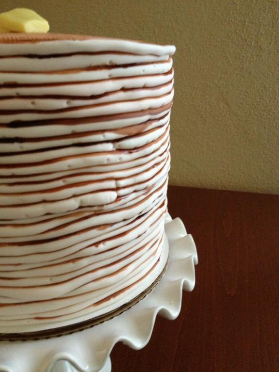 Tall Cake Shaped as Stack of Pancakes, on Bluprint