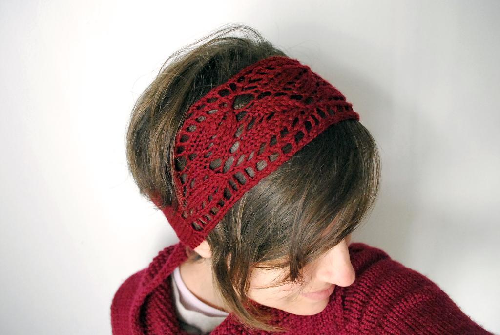 Red Knit Headband - Fall and Winter Headgear on Bluprint