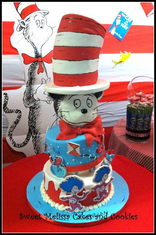 Cat in the Hat Cake - Tall Cakes