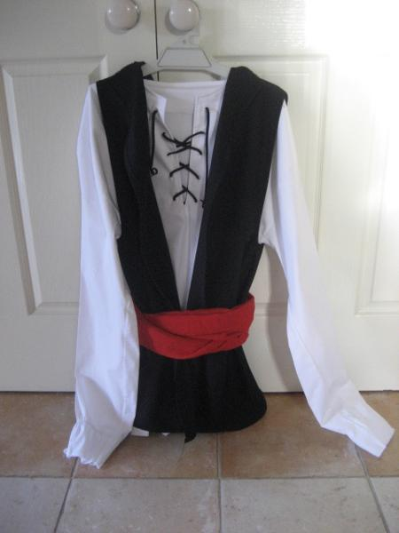 Pirate Costume Hanging on Door