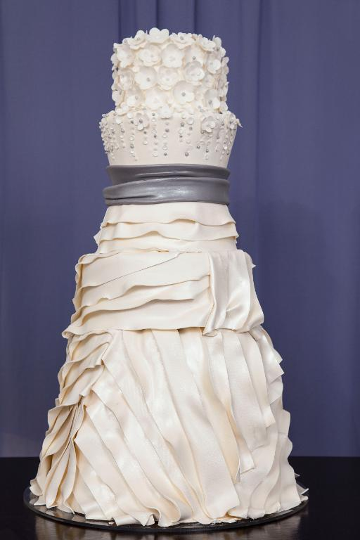 Tall Wedding Dress Cake