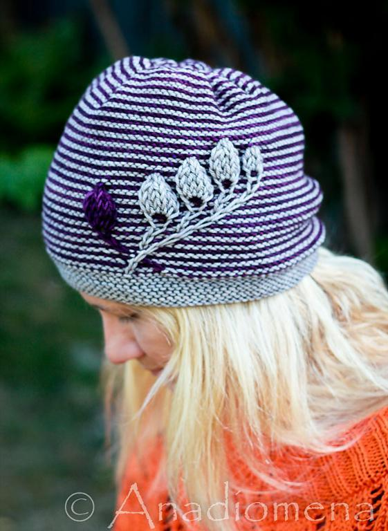 Blue Striped Hat with Embellishment, on Bluprint