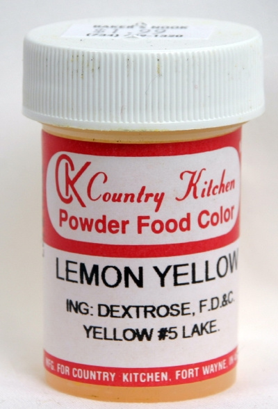 Container of CK Country Kitchen Yellow Dye
