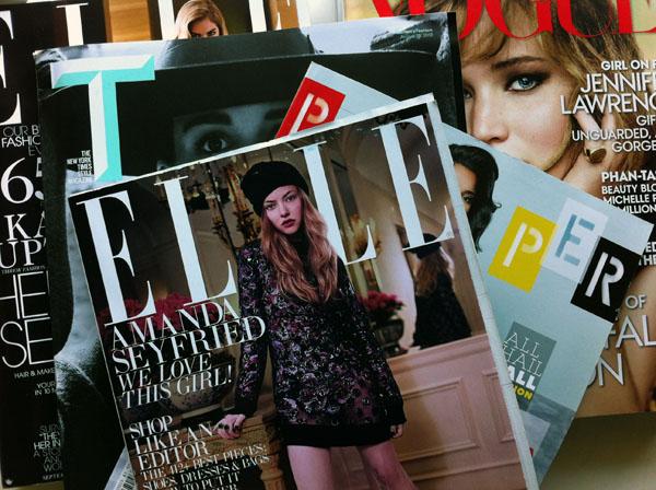 Pile of Fashion Magazines