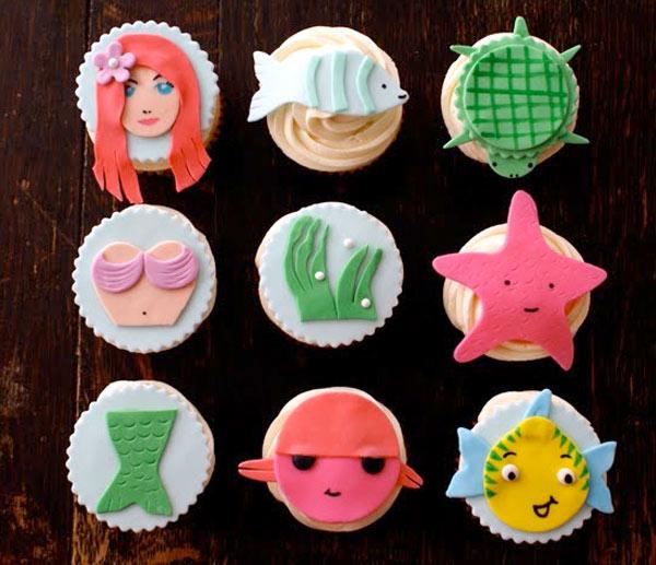Mermaids Fondant Cake Toppers