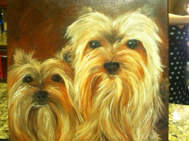 Painting of Two Very Cute Dogs
