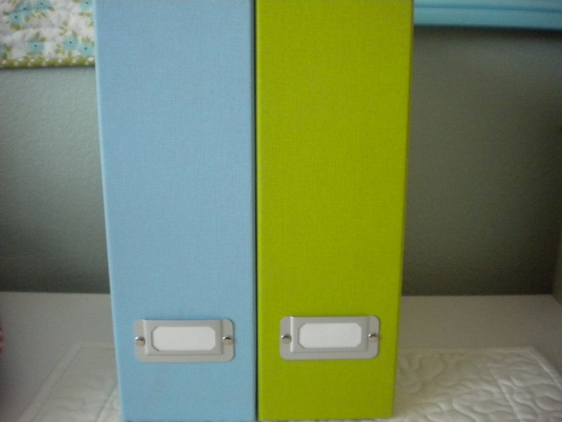 Blue and Green Binder