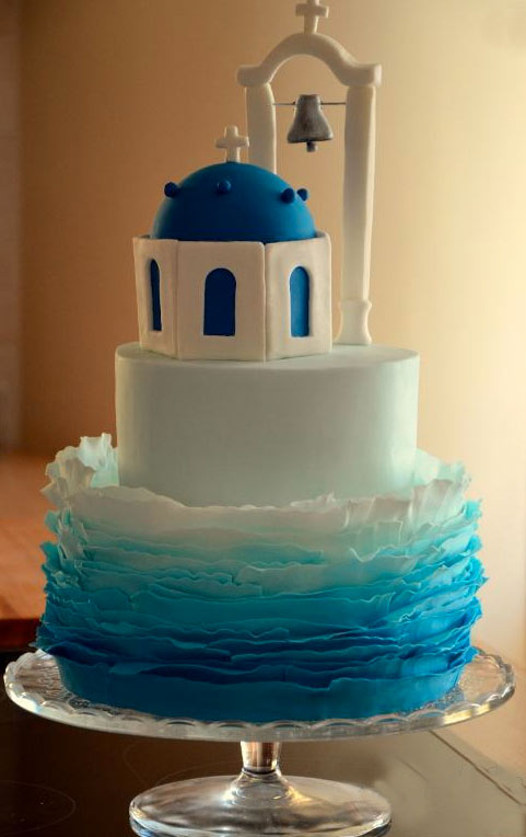 Blue Church Cake