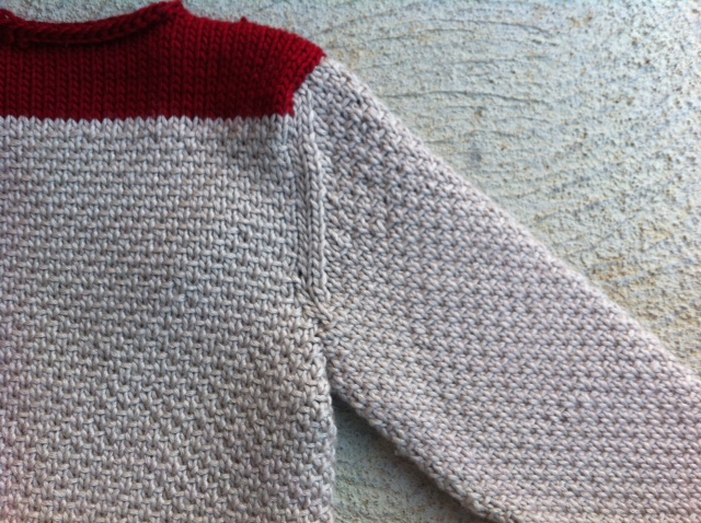 Finished Sweater - Setting in Sleeves