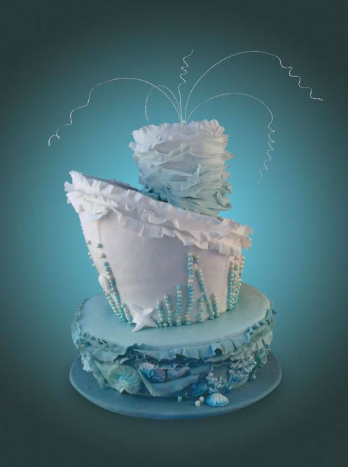 Topsy Turvy Under the Sea Cake - Bluprint Member Project