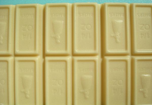 Bars of White Melting Chocolate