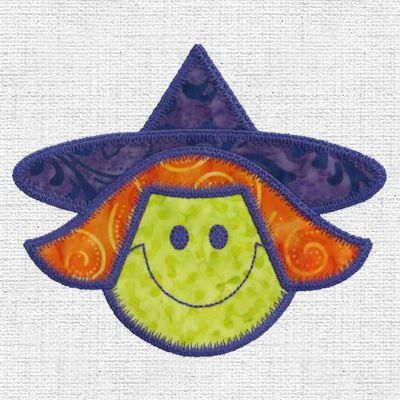 Embroidered Smiling Witch
