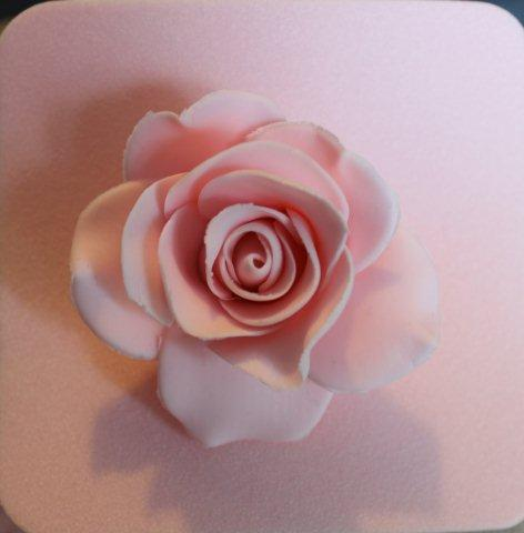 Gum Paster Rose with Three Layers of Petals