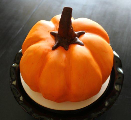 Carved Pumpkin Cake