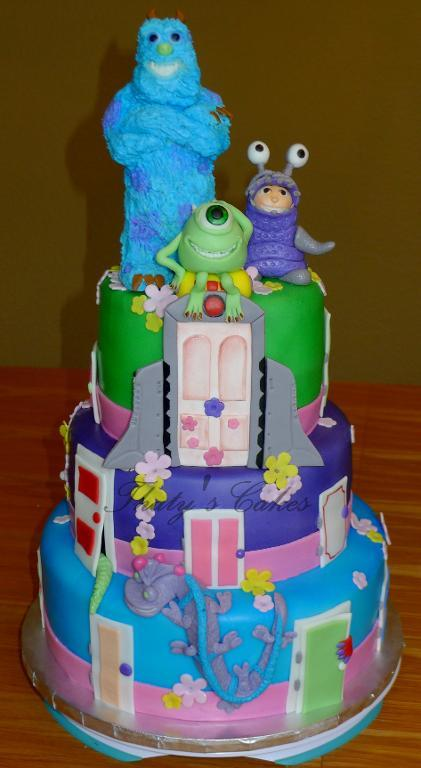 Tiered Monsters, Inc. Cake, on Bluprint
