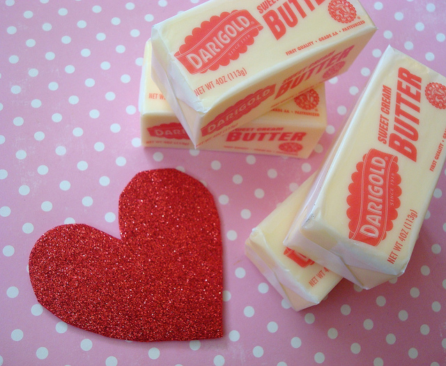 Sticks of Butter and Sparkly Heart