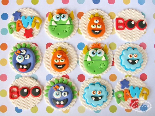 Various Monster Fondant Toppers