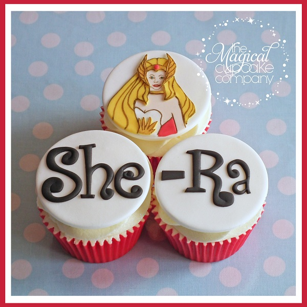 She-Ra Cartoon Cupcakes on Bluprint
