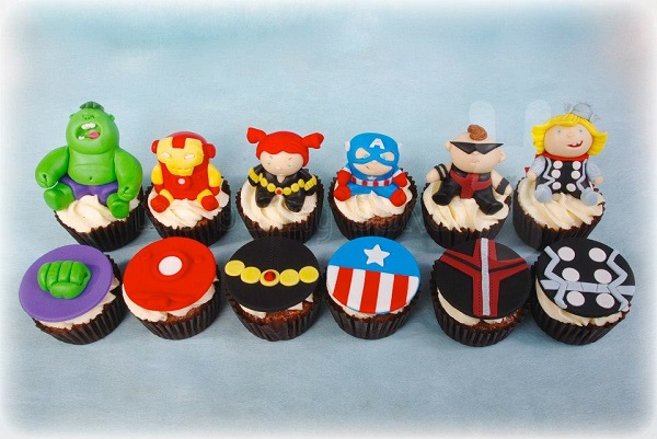 Collection of Marvel Superhero Cupcakes
