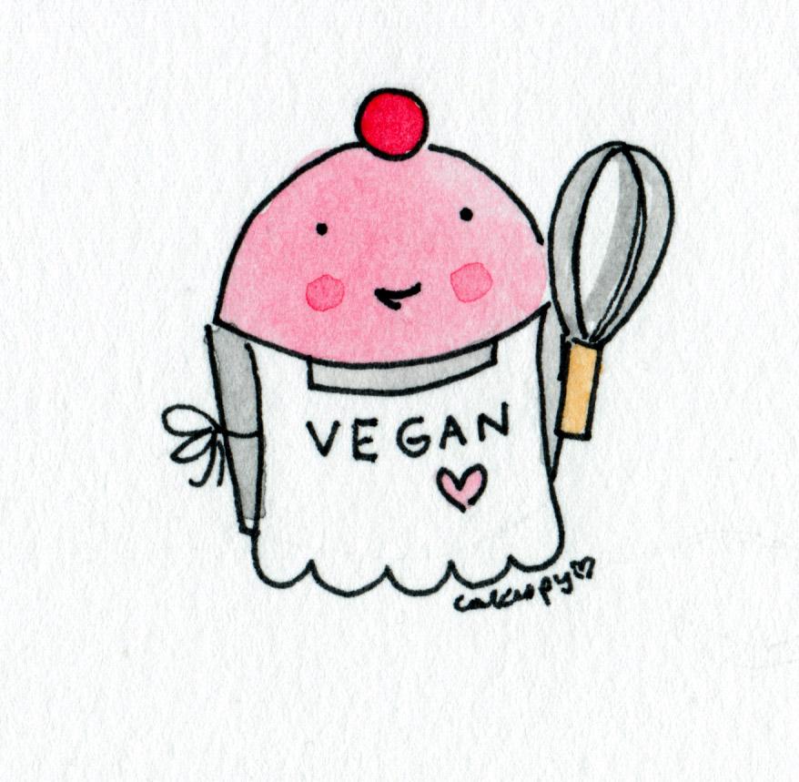 Cartoon of Vegan Cupcake, on Bluprint