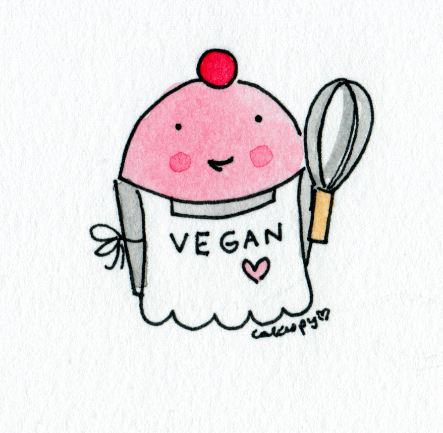 Cartoon of Vegan Cupcake, on Craftsy