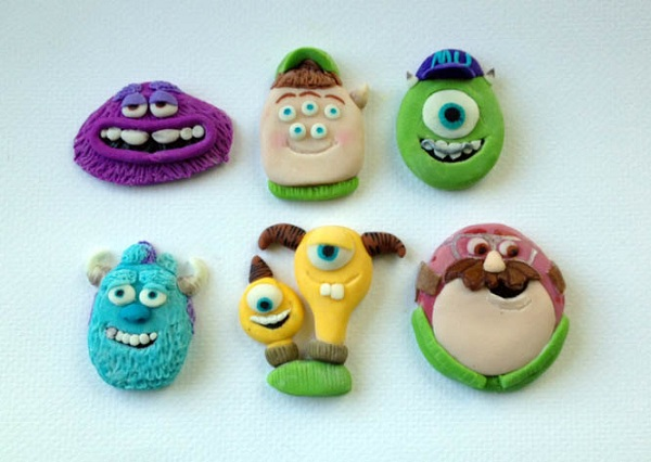 Fondant Toppers - Monsters, Inc. Characters