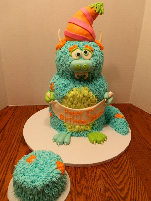 Fuzzy Monster Cake, on Bluprint